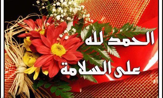 صوره صور الحمدلله على السلامه , ابعت امنيات جميلة لكل عائد الي وطنة