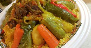 صوره طريقة عمل الكسكس المغربي , طبق الكسكس مغربي بالخضار واللحمة