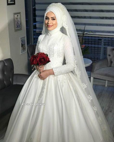 a7ec87d59 اجمل فساتين اعراس 2019 , اروع موديلات فساتين زفاف للمحجبات - افضل جديد