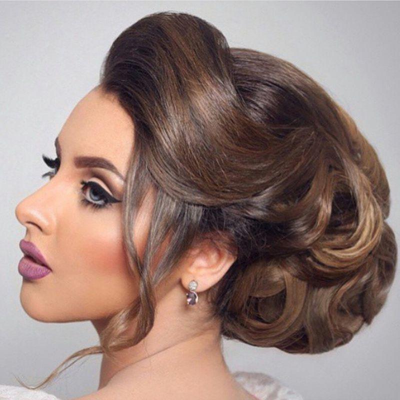 صور اجمل انواع تسريحات رفع الشعر , تسريحة شعر للبنات الجميلة