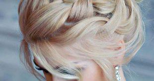 صوره اجمل انواع تسريحات رفع الشعر , تسريحة شعر للبنات الجميلة