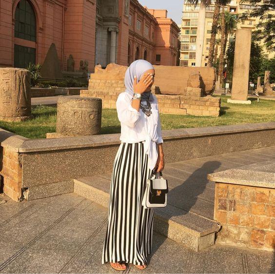 بالصور احدث ملابس المحجبات صيف 2019 , ازياء خلال فصل الصيف للمحجبة 549 1