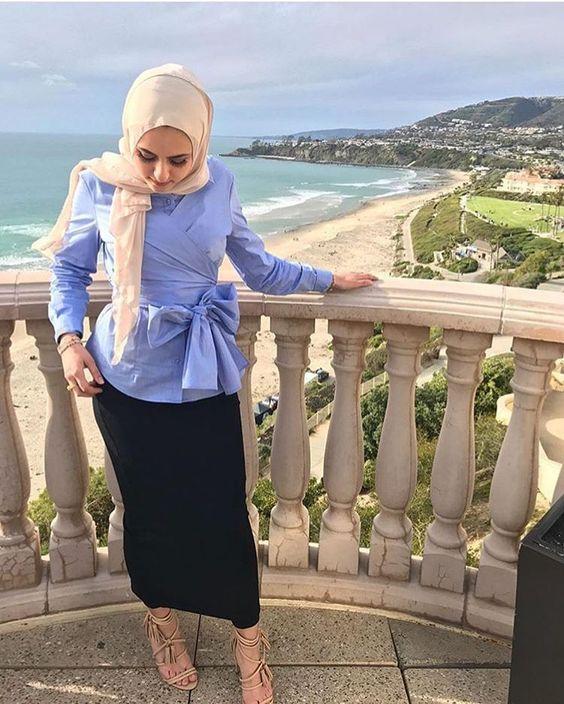 بالصور احدث ملابس المحجبات صيف 2019 , ازياء خلال فصل الصيف للمحجبة 549