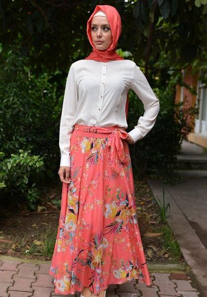 صورة موديلات حجابات تركية صيفية , اجمل ستايل ملابس نسائية