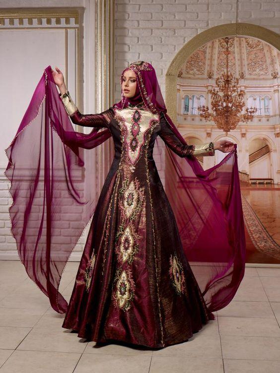 بالصور موديلات قنادر اعراس جزائرية 2019 , اجمل تشكيل فساتين خطوبة للمحجبة 555 8