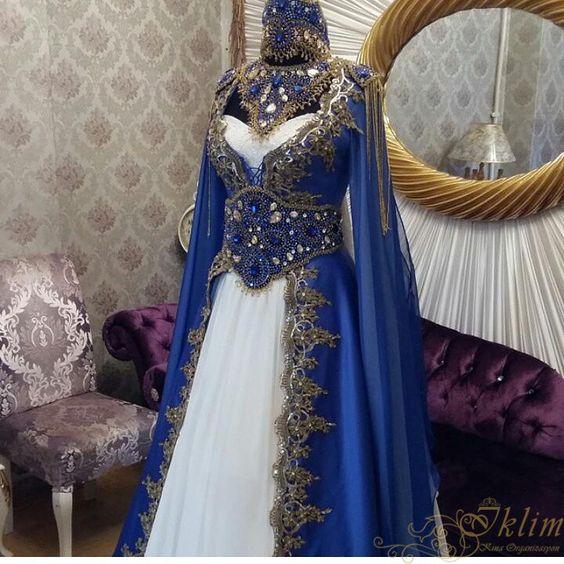 بالصور موديلات قنادر اعراس جزائرية 2019 , اجمل تشكيل فساتين خطوبة للمحجبة 555 9