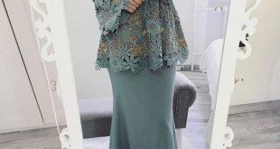 صوره فساتين السهرة جزائرية 2018 , فستان محجبة راقي جدا