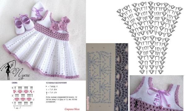 بالصور فساتين بنات بالكروشيه بالباترون , اجمل فستان بنات صغيرة 561 5