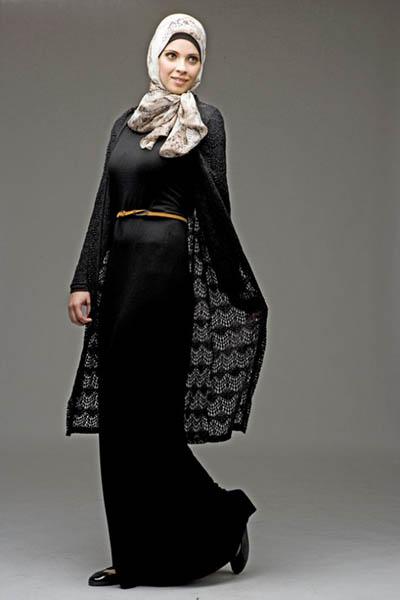 بالصور موديلات حجابات بالدونتال , اروع فساتين محجبات 563 9