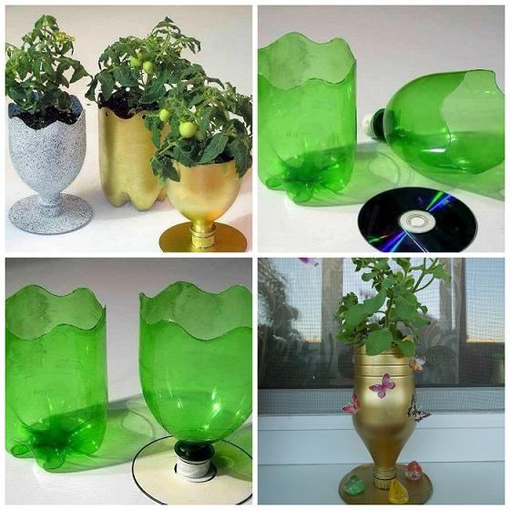 صورة اشغال يدوية بالقارورات البلاستيكية , بالصور افكار منزلية بسيطة