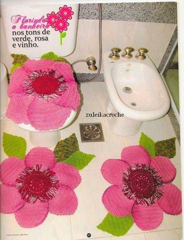 بالصور اطقم حمامات كروشية بالباترون , اجمل اطقم حمام من الكروشية 859 1