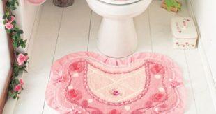 اطقم حمامات كروشية بالباترون , اجمل اطقم حمام من الكروشية