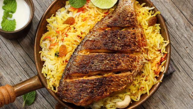 صوره طريقة عمل برياني سمك , تحضير البرياني بالسمك والارز