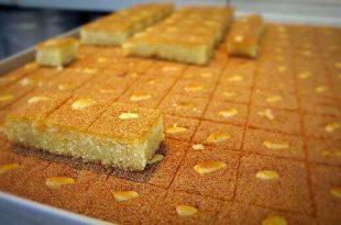صوره طريقة عمل الحلويات المصرية , اسهل طرق عمل بسبوسة مصرية