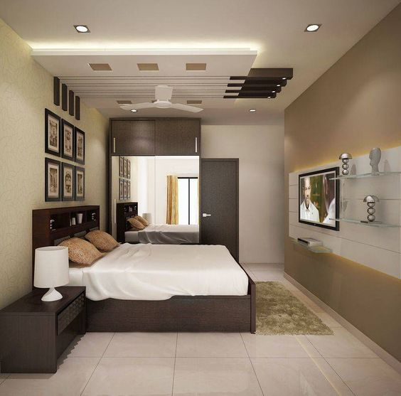 Bedroom With High Ceiling Interior Design Art For Grey Bedroom Bedroom Color Ideas For White Furniture Feng Shui Bedroom Colors List: احدث غرف نوم 2019 , اجمل ديكورات اوض نوم فخمة