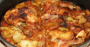 صينية بطاطس بالدجاج , فيديو صينية الفراخ بالبطاطس