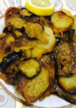 صوره اطباق الباذنجان والبطاطس , دنجال بالبطاطس