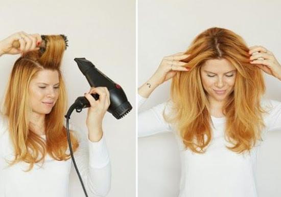 صورة استشوار الشعر , كيفية فرد الشعر بالاستشوار سهل للمبتدئين