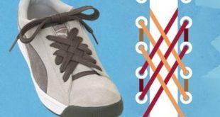 صوره طرق ربط الحذاء , ربط الحذاء بطرق مختلفة