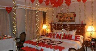 صوره افكار لعيد الزواج الاول , تزيين غرف النوم