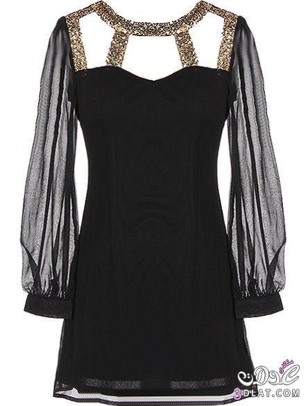 بالصور فساتين سهرة باللون الاسود , صيحه جديده لفستان السهره 3423 1