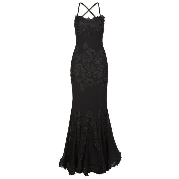 بالصور فساتين سهرة باللون الاسود , صيحه جديده لفستان السهره 3423 10