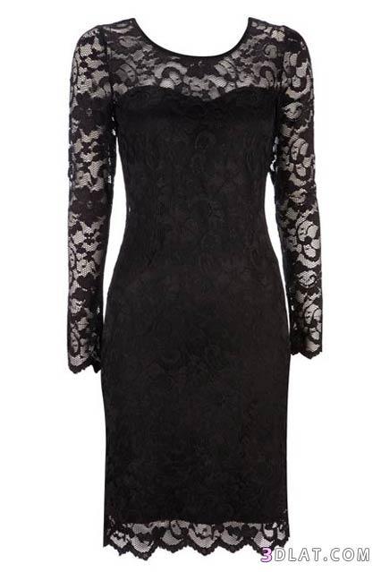 بالصور فساتين سهرة باللون الاسود , صيحه جديده لفستان السهره 3423 2