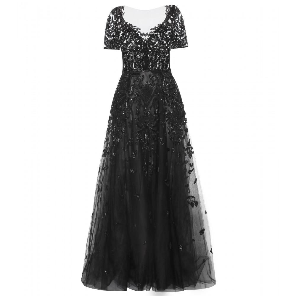 بالصور فساتين سهرة باللون الاسود , صيحه جديده لفستان السهره 3423 6