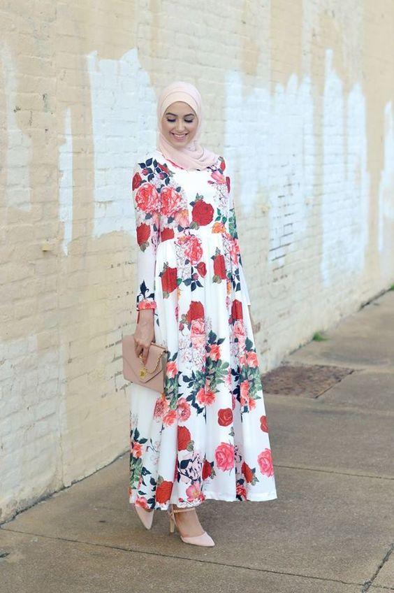 صورة لبس العيد , احلى موديلات ازياء للمراة المحجبة في العيد