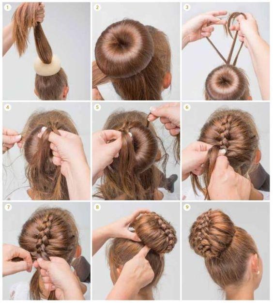 بالصور تسريحات شعر للمناسبات البسيطة بالخطوات , صور تسريحات شعر للبنات 3991 4