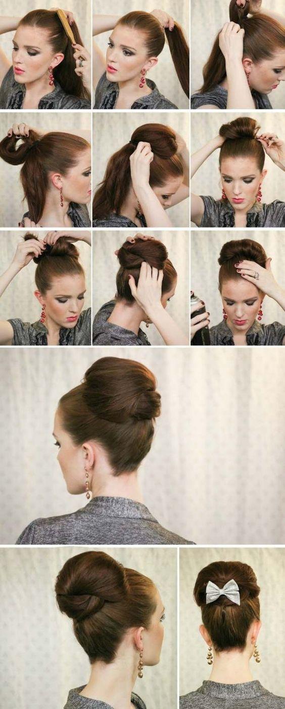 بالصور تسريحات شعر للمناسبات البسيطة بالخطوات , صور تسريحات شعر للبنات 3991 7