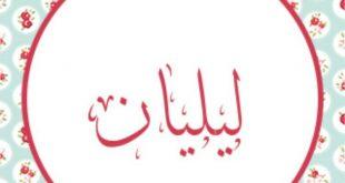 معنى اسم ليليان في اللغة العربية , ماهو معنى اسم ليليان