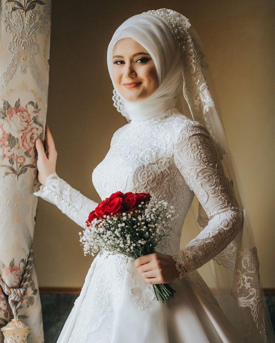بالصور فساتين عرايس , صور فساتين حفلات الزفاف للمحجبات رائعة 4011 2