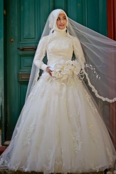 بالصور فساتين عرايس , صور فساتين حفلات الزفاف للمحجبات رائعة 4011 3