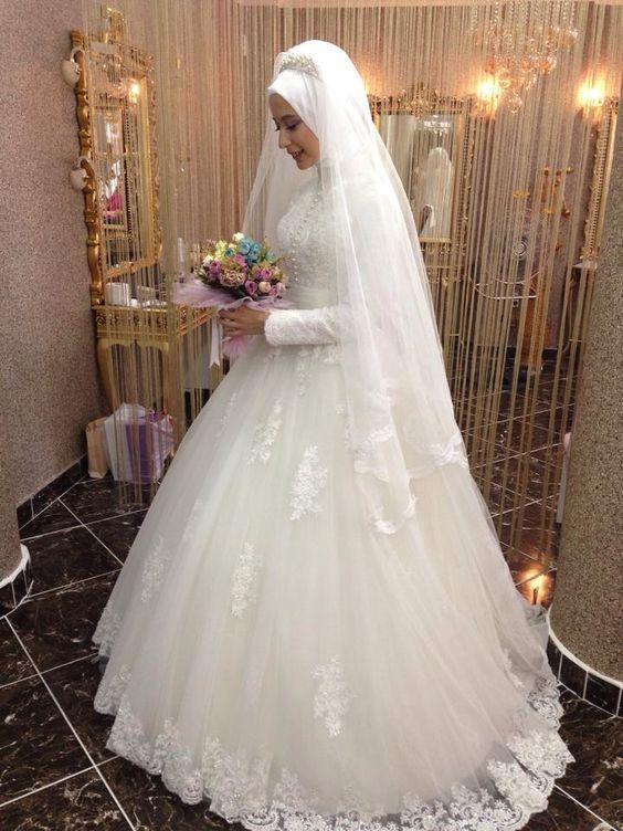 بالصور فساتين عرايس , صور فساتين حفلات الزفاف للمحجبات رائعة 4011 5