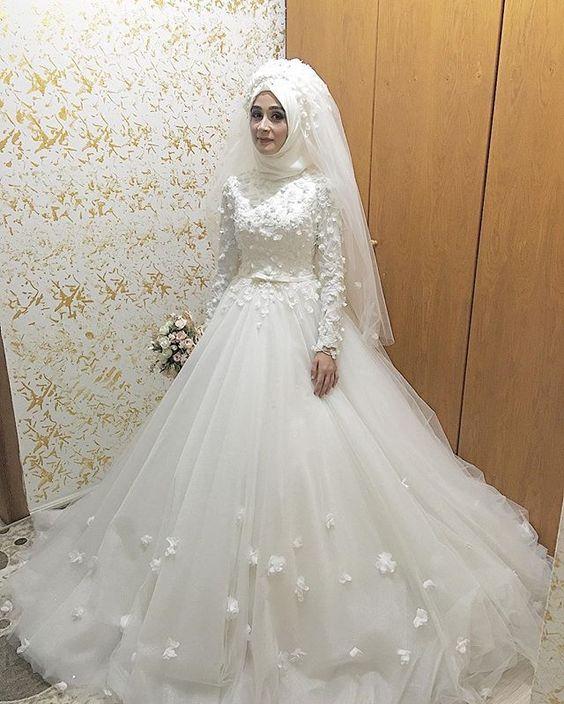 بالصور فساتين عرايس , صور فساتين حفلات الزفاف للمحجبات رائعة 4011 6