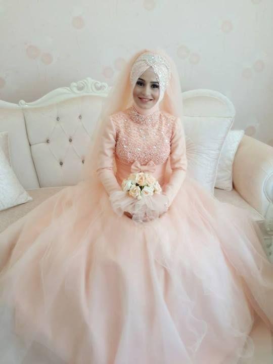 بالصور فساتين عرايس , صور فساتين حفلات الزفاف للمحجبات رائعة 4011 7