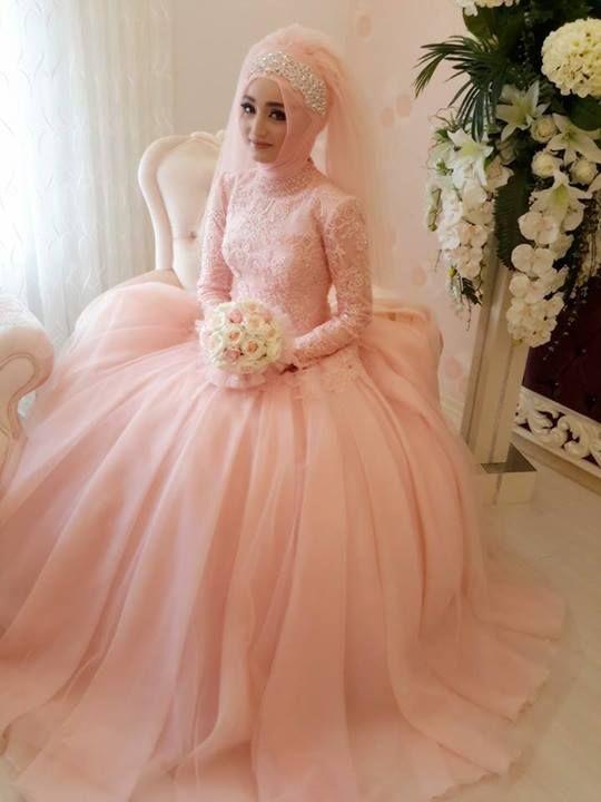 بالصور فساتين عرايس , صور فساتين حفلات الزفاف للمحجبات رائعة 4011 8