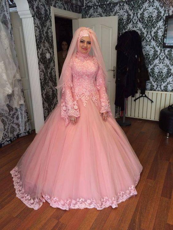 بالصور فساتين عرايس , صور فساتين حفلات الزفاف للمحجبات رائعة 4011 9