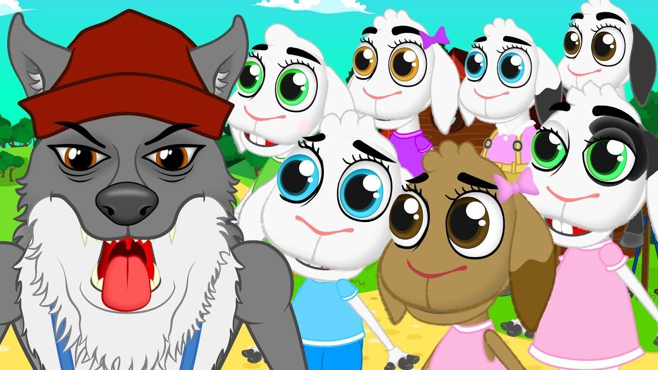 صوره قصة اطفال , اجمل قصص كرتونية للاطفال الذئب و الخراف سبعه