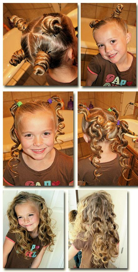 بالصور احلى تسريحات اطفال , صور تسريحة بنات صغيرة 4082 9