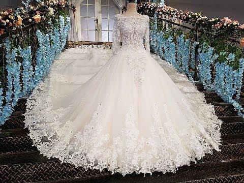 b0965c7ad موضة فساتين زفاف 2019 , كولكشن جامد جدا لكل عروسه - افضل جديد