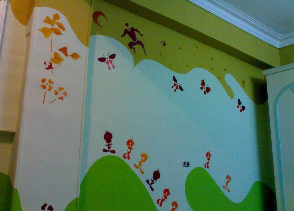 بالصور نقاشة غرف اطفال , اشكال لغرف نوم الاطفال 4750 8