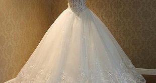 صوره موديلات فساتين زفاف 2018 , كولكشن رائع لفستان الفرح