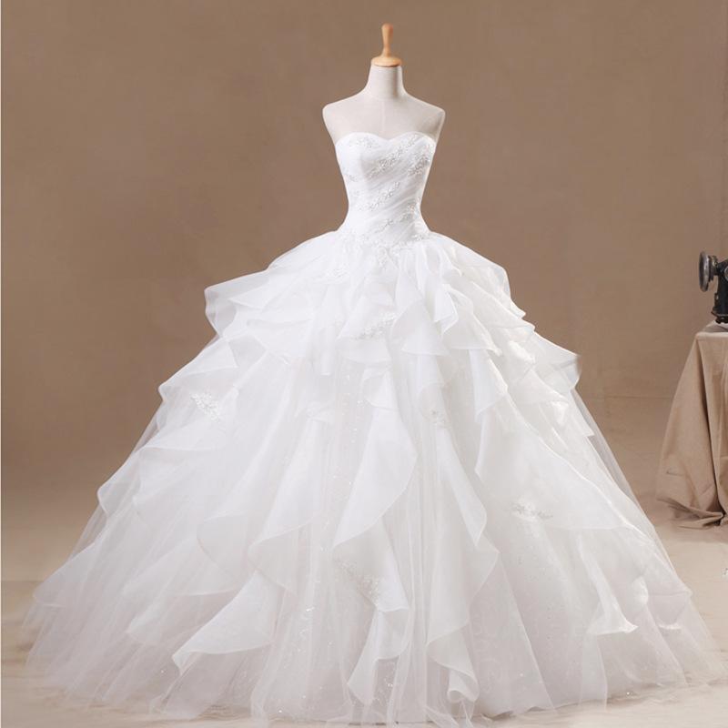 بالصور موديلات فساتين زفاف 2019 , كولكشن رائع لفستان الفرح 4894 5