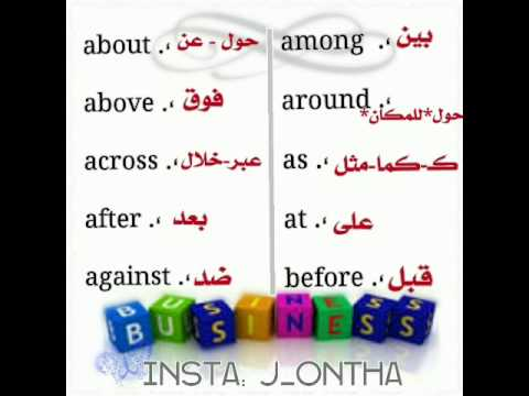 صور حروف الجر الانجليزية للمبتدئين , اللغه الانجليزيه بطريقه سهل جدا