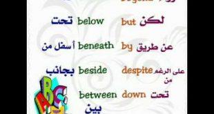 صورة حروف الجر الانجليزية للمبتدئين , اللغه الانجليزيه بطريقه سهل جدا