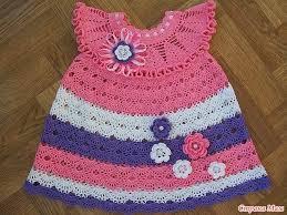 صورة فستان كروشية اطفال , اجمل الفساتين الكروشيه صيفى وشتوى