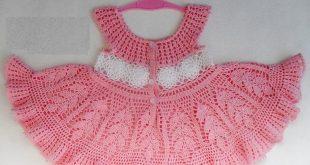 فستان كروشية اطفال , اجمل الفساتين الكروشيه صيفى وشتوى