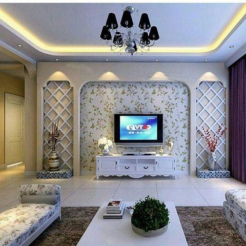 صوره ديكورات جدران صالات , اشكال وتصاميم للجدران تحفه